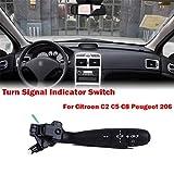 CFHMLK Auto Instrument Blinker Blinkerschalter Lenkstockschalter, für Citroen C2 C5 C8, für Peugeot 206 Zubehör