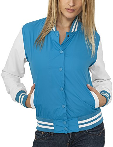 Urban Classic Ladies Light College Jacket, Giacca Donna, Turchese (Türkis), Small