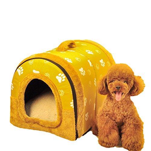 nihiug Teddy Zwinger Katze Wurf Waschbar Hund Haustier Haus Pommern Haus Vier Jahreszeiten Kleiner Hund Hundebett,M-S(lessThan2kg)