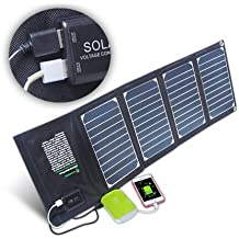 Generic 21W 18V5V : 20W Dual USB Port Waterproof Fabric Foldable Solar panel pack for iPhone 7s Plus 7 External Batteries and any USB devices