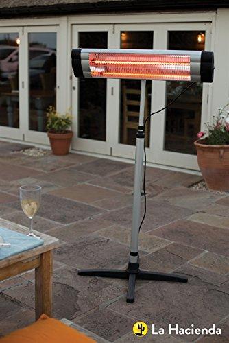 La Hacienda Adjustable Standing Patio Heater 2000W