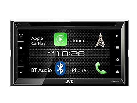 JVC Radio KW-V820BT Apple CarPlay Bluetooth für GM Hummer H3 2005-2010 incl Einbauset schwarz