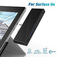 منفذ USB C لقارئ بطاقات الأمهات من Microsoft Surface Go مع مدخل HDMI 4K فتحة SD/Micro SD ، مقبس صوت 3.5 مم / منفذ USB 3.0 لللوحة المفاتيح السطحية والماوس والأقلام والإكسسوارات