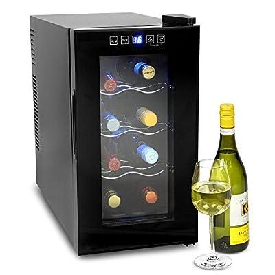 bar@drinkstuff VinoTech 8 Bottle Wine Cellar - 25 Litre Digital Wine Cooler and Warmer 8ºC to 18ºC