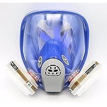 Para 6800silicona máscara de gas completa–protección para cara mascarilla 7pcs traje pintura nueva