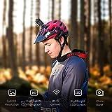 """Crosstour Action Cam, Sport WIFI Camera 1080P 2""""LCD Full HD Impermeabile 2 Batterie 1050mAh 170°Grandangolare e Kit Accessori per Ciclismo Nuoto e altri Sport Esterni (CT7000) (CT7000)"""