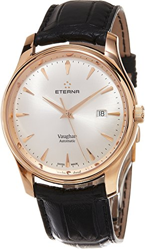 ETERNA MEN'S 42MM BLACK CROCODILE LEATHER BAND AUTOMATIC WATCH 7650.6911.1185