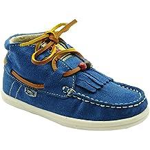 Dolfie Landom - Zapatilla deportiva de terciopelo con flecos para niña, color azulón.