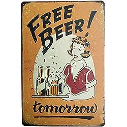 iTemer 1 pieza decoración de bar creativo cóctel de cerveza patrón decoración hierro pintura bar restaurante decoración mural 20cm*30cm Style B