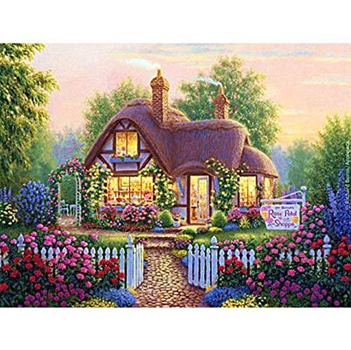 WACYDSD Puzzle 1000 Teile DIY Scenic Gartenhaus 3D Kit Ribbon Landschaft Crafts Home Decor