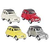 Goki 4013594121873 petites voitures Citroën 2 chevaux - Moulées par injection - 1:60 , Coloris Aléatoire