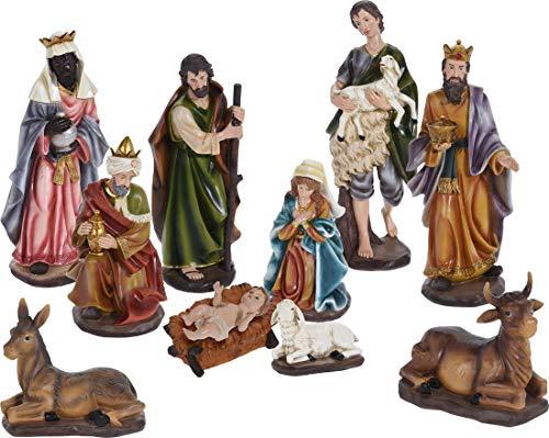made2trade 10 teiliges XXXL Krippenfiguren Set aus Polystone - Bis zu 42cm hoch