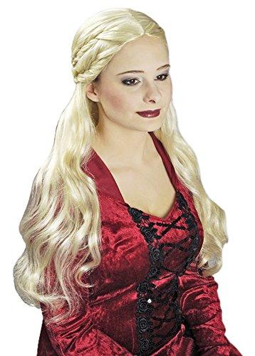 Langhaar Perücke Danaria Blond - Wunderschöne Perücke für Mittelalter oder Vampir Kostüme für (Ein Vampir Für Kostüm Frisuren)