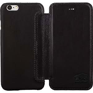 "Solo Pelle iPhone 6 Plus / 6S Plus Case Lederhülle Ledertasche""Ultra Book"" 5,5 Zoll aus echtem Leder für das Original Apple iPhone 6 Plus / 6S Plus in Schwarz"