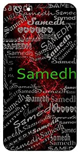 Samedh (Full Of Strength) Name & Sign Printed All over customize & Personalized!! Protective back cover for your Smart Phone : Xiaomi Redmi Note
