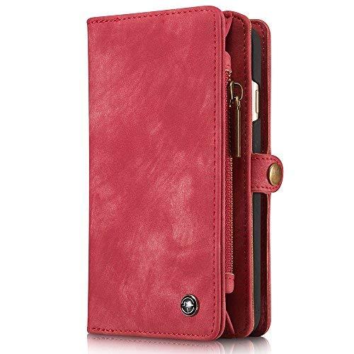 INFLATION iPhone Leder Handytasche Case Hülle Geldbörse mit Kartenfach abnehmbar Magnet Handy Schutzhülle für iPhone 7 in Grau …