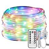 LE Lichterschlauch 10M 100er LED USB 8 Modi mit Memory-Funktion, Mehrfarbig, ideal für Weihnachtsdeko, Innen Party Weihnachten Dekolicht usw.