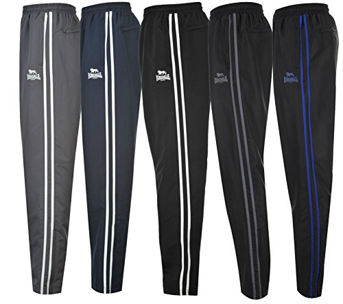 Lonsdale Pantaloni da jogging 2strisce pantaloni Casual da pantaloni sportivi S M L XL XXL XXXL XXXXL (simile a Puma, Adidas 3strisce), blu scuro / bianco, M