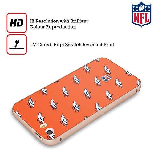 Ufficiale NFL Marmo 2017/18 Denver Broncos Oro Cover Contorno con Bumper in Alluminio per Apple iPhone 5 / 5s / SE Pattern