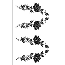 Armour Products Plastic Rub 'N' Etch Designer Stencil 5-inch x 8-inchStemmed Roses by Armour Products