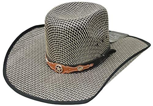 efea57e08 Modestone Traditional Bangora Rodeo Straw Chapeaux Cowboy Green