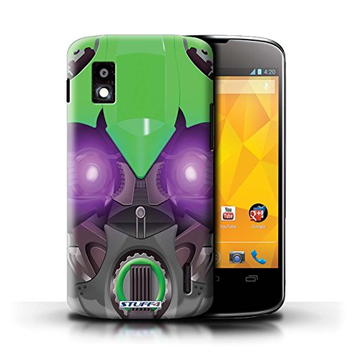 Kobalt® Imprimé Etui / Coque pour LG Nexus 4/E960 / Bumble-Bot Bleu conception / Série Robots Bumble-Bot Vert