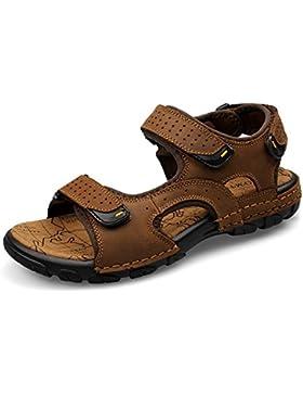 Sport Sandale, Nasonberg Cowhide Unisex Herren Damen Strand Wandern Sommer Sandale im Freien Wandern Sport Sandale