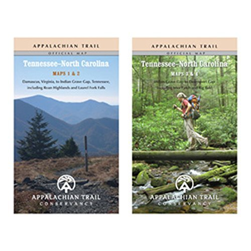 Appalachian Trail - Cons. Appalachian Trail Karten Tennessee / North Carolina