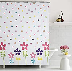 Home Candy Vivid Floral PEVA Shower Curtain - 70