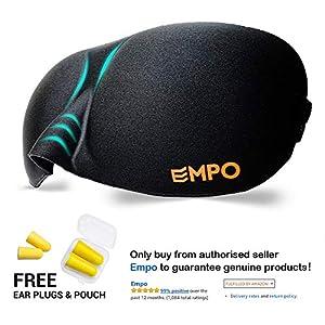 EMPO Schlafbrille Weich Memory Augenmaske komfortabel Verstellbare Reisen