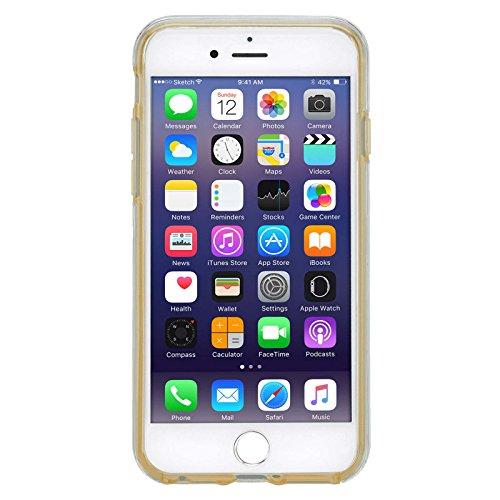 Cover Iphone 7 plus, Lincivius®, Custodia Iphone 7 plus [Full Cover 360 BUMPER] Full Body Case TPU Silicone Accessori Protettiva Ultra Slim TRASPARENTE 2 in 1 Bumper Anteriore E Posteriore - Colore Gr Oro