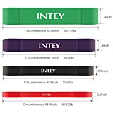 INTEY Resistance Bands Sets 4 Sets Pull Up Exercise Bands Workout Straps for Yoga Body Stretch Powerlifting for Men and Women