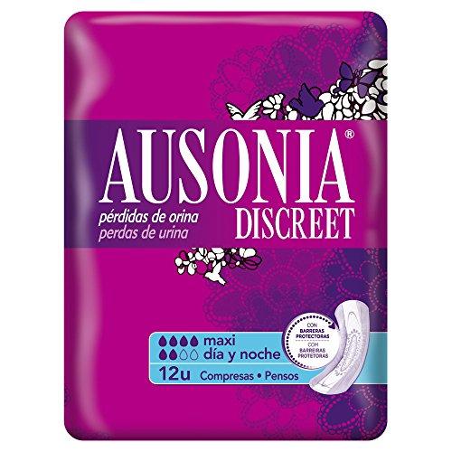 ausonia-discreet-maxi-jour-et-nuit-serviettes-hygieniques-normal-pour-pertes-durine-12-unites