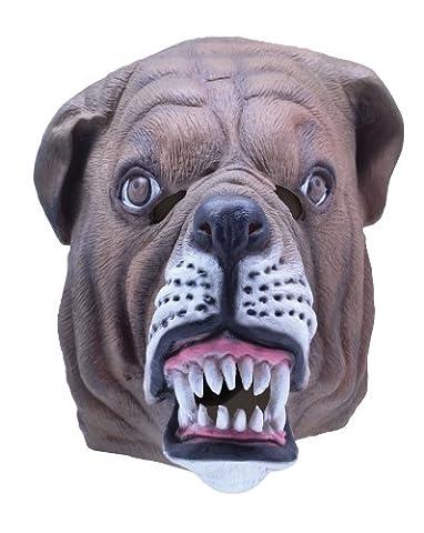 British Bulldog Bull Dog Masque en caoutchouc Fancy Dress Masque pour adulte