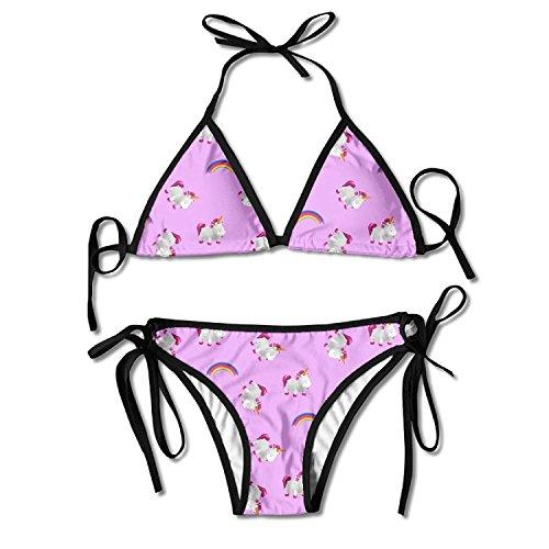 52a65bf4be ZMYGH Women's Small Unicorn Family Sexy Bikini Swimsuit Bathing Suits