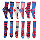 Jungen Marvel Helden Spiderman Baumwolle Kinder Socken 6-8.5 9-12 12.5-3.5