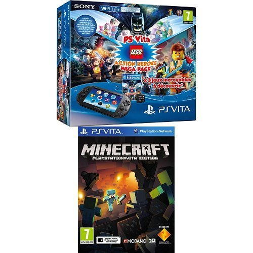 Pack Playstation Vita + Lego Mega Pack + Carte Mémoire 8 Go + Minecraft