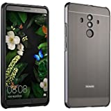 Huawei Mate 10 Pro Case, Mooncase Luxury Metal Bumper + Brushed Hard Plastic Back Cover 2 in 1 Cover Ultra Thin Frame