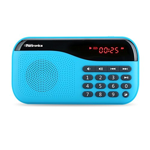 Portronics Speaker With FM radio & MicroSD card Support POR142 Blue  available at amazon for Rs.998