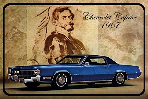 chevrolet-caprice-1967-auto-reklame-blechschild-blau-usa
