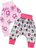Baby Mädchen Pump Baggy Hose 2er Set Pferd Rosa und Panda Pink 22771, Größe:104