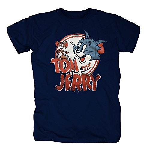 TSP Tom und Jerry T-Shirt Herren Navy