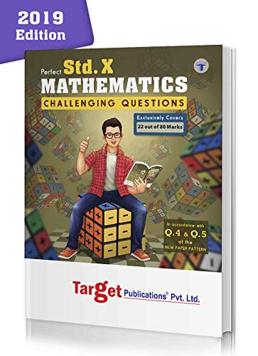 Std 10 Maths Challenging Questions Book | Chapterwise Important Questions (HOTS) with Solutions for Improved Practice | Based on SSC New Paper Pattern | English Medium | Std 10th Maharashtra State Board