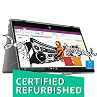 (CERTIFIED REFURBISHED) HP Pavilion x360 14-cd0050TX Convertible(8th Gen i3-8130U/4GB DDR4/1TB+8GB SSHD/NVIDIA 2GB Graphics/Win 10/FP Reader/MS Office H&S 2016) Natural Silver