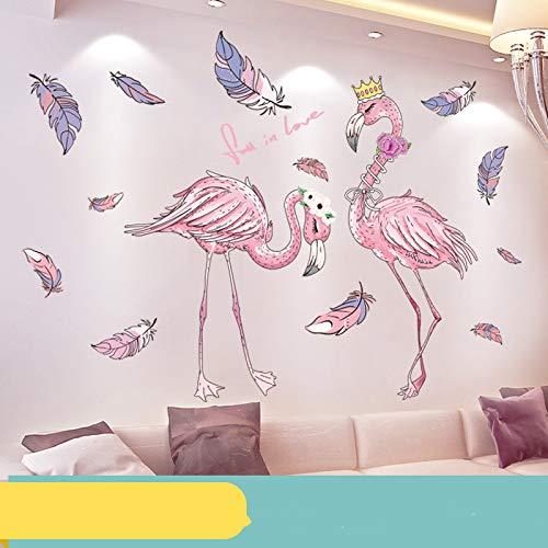 Vermietung Haus Dekoration kleines Zimmer Wandaufkleber Schlafzimmer selbstklebend Flamingo Extra groß
