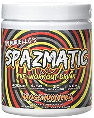 Spazmatic Supplements Spazmatic Pre Workout Mango Maamba Powder from Spazmatic Supplements