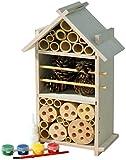 Luxus-Insektenhotels 22369FSC FSC-Holz Insektenhotel-Bausatz für Kinder zum Bauen und Bemalen