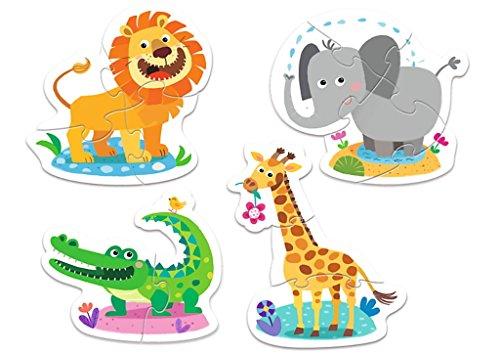 TREFL-Puzzle Baby Los Animales Salvajes 2-3-4-5Piezas, 36054u
