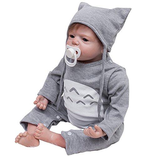 LovelyBaby Reborn para muñecas hecha a mano realista bebé (silicona y vinilo boy girl muñeca