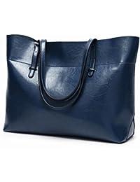 675d67e16855d JULYFELICIA Julyficia Damen Leder-Handtasche Schultertasche Damen  Schultertasche Messenger…